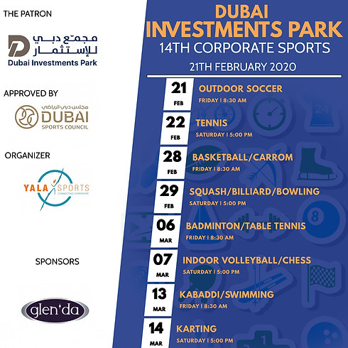 14th DIP Corporate Sports Competitions - Feb 2020