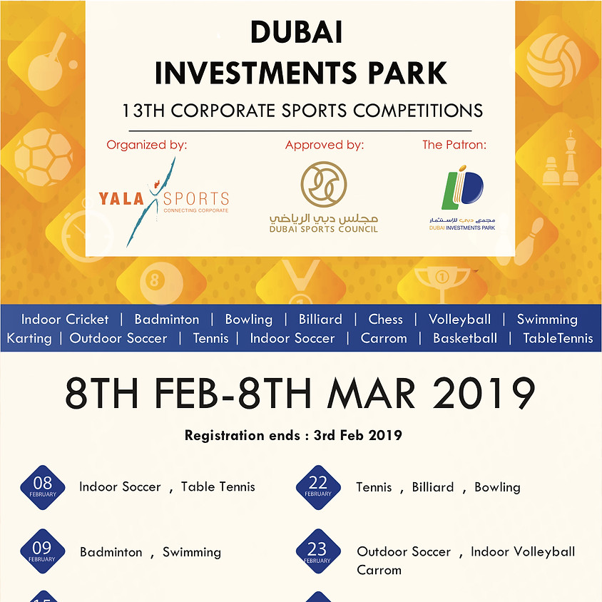 13th DIP Corporate Sports Competitions - Feb 2019