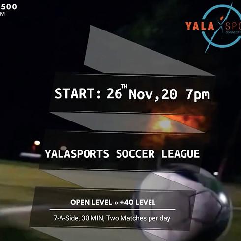YalaSports Outdoor Soccer League - 26th Nov 2020