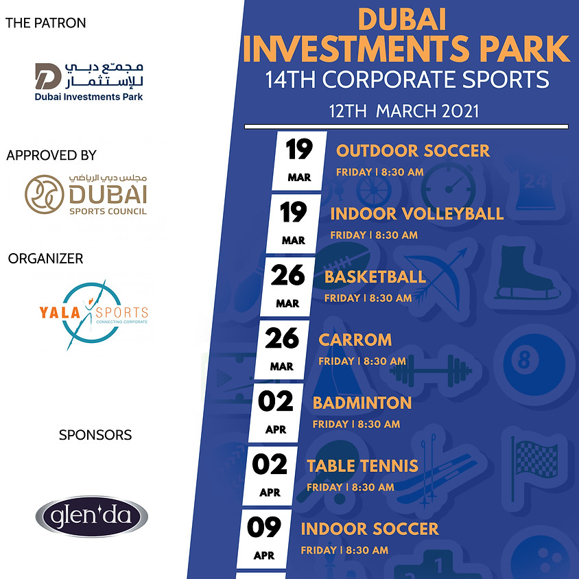 14th DIP Corporate Sports Competitions - Mar 2021