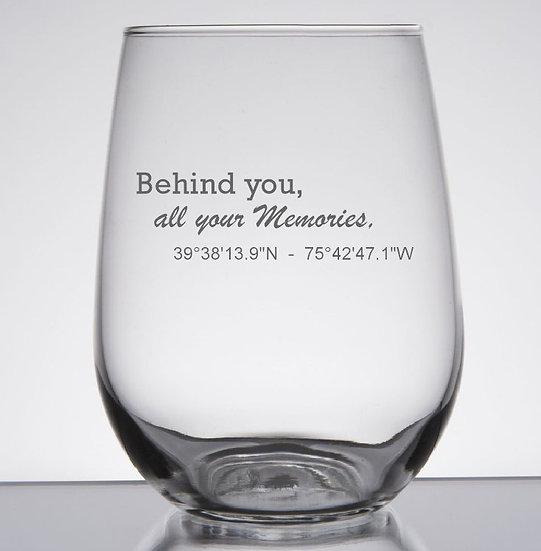 New Home Wine Glass Set