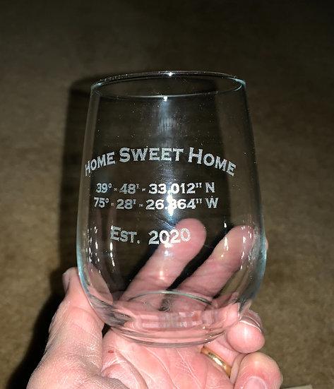 Home-Sweet-Home Wine Glass