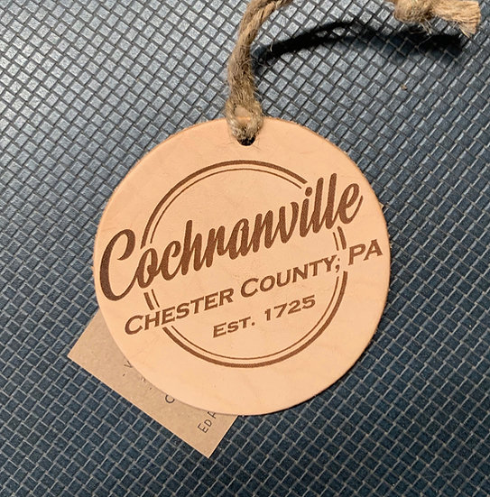 Leather Township Ornament
