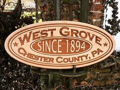 laser engraved wood township name custom