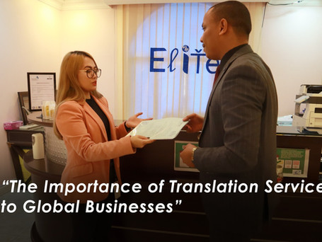 The Importance of Translation Service to Global Businesses