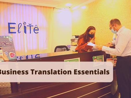 Business Translation Essentials