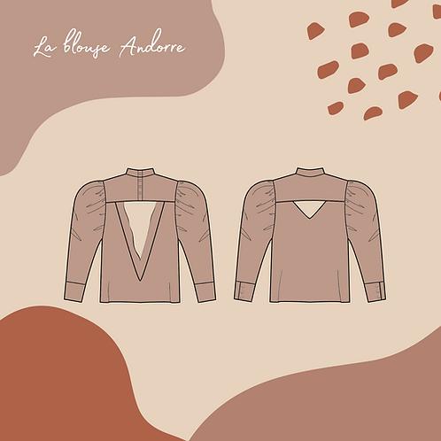 Patron pochette de la blouse ou robe Andorre