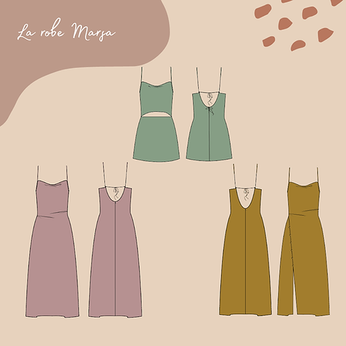 Patron PDF de la robe Marsa