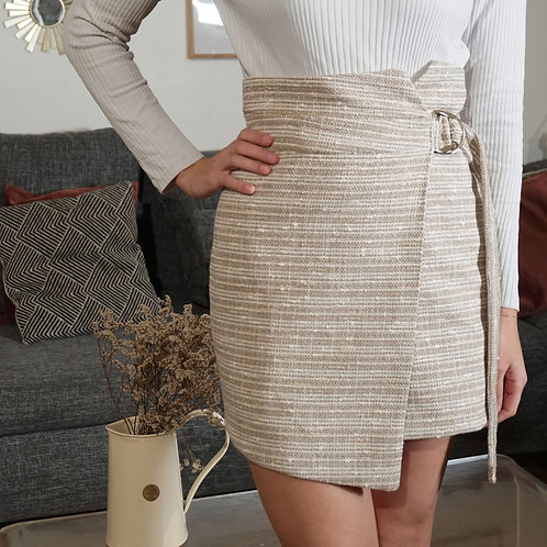 Le coffret couture de la jupe Cordoba -tweed beige