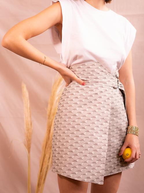 Le coffret couture de la jupe Cordoba - Jacquard nuages