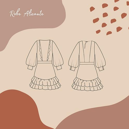 Patron pochette de la robe ou ensemble Alicante