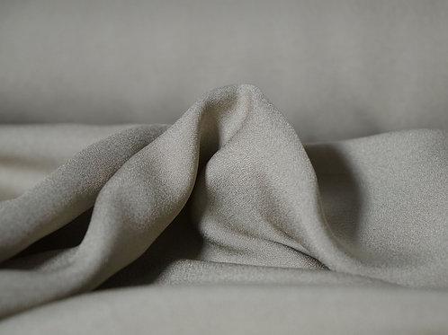 Tissu mélange viscose et polyester crepe - vert gris