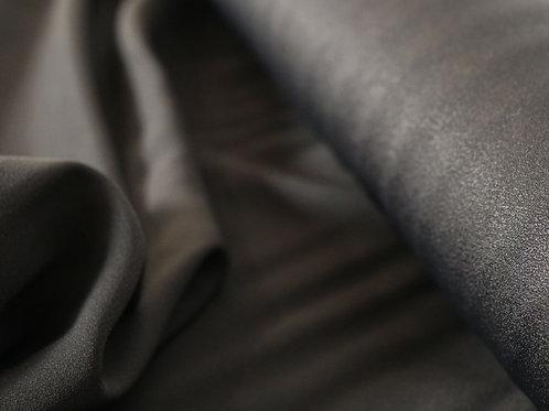 Tissu Satin de viscose - noir