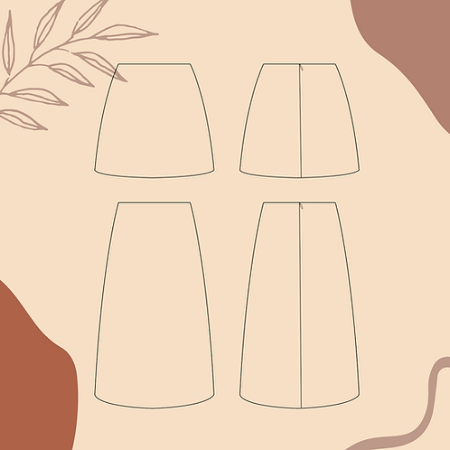 Patron pochette des jupes Valencia