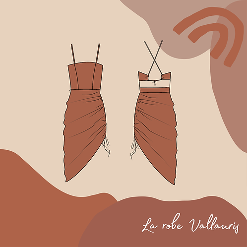 Patron PDF de la robe Vallauris