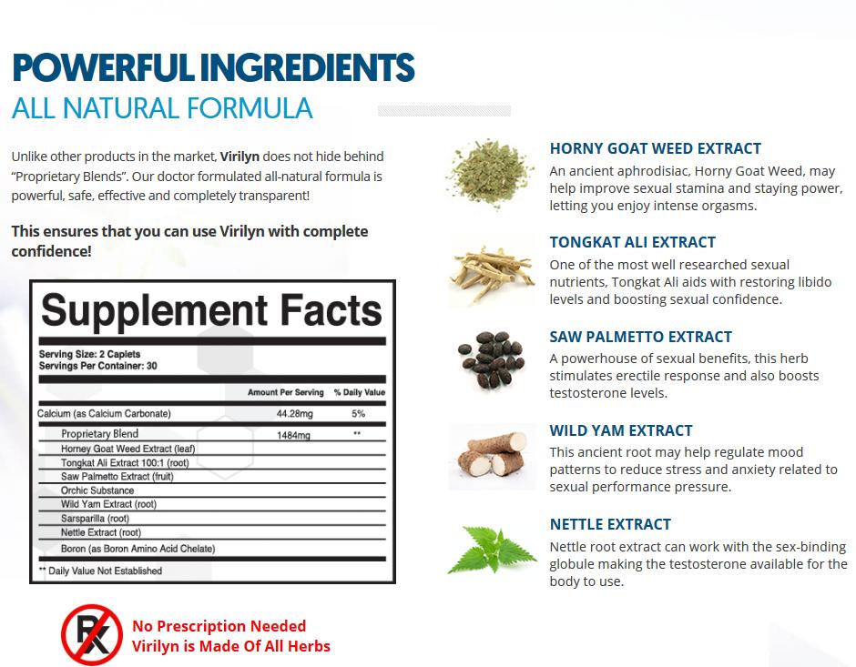 Virilyn Male Enhancement Ingredients