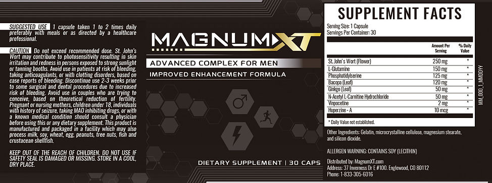 Magnum XT Product Label