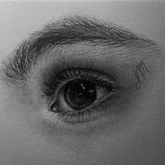 """Baby Eyes, Graphite on paper (3"""" x 3"""") 1/30/2020"""