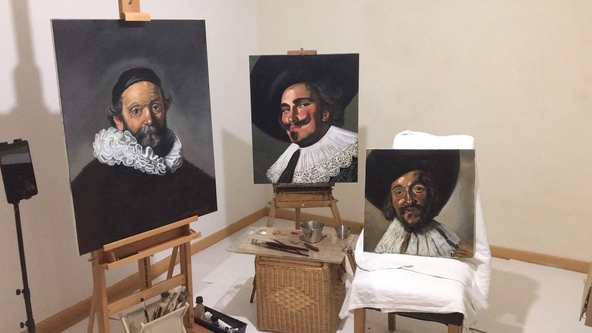 Galeria de retratos. Rembrandt y Frans Hals