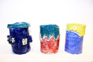 Ceramic Tzedakah Boxes