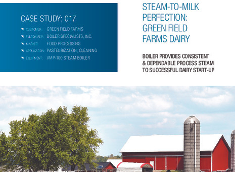 """Fulton Releases New Case Study, """"Steam To Milk Perfection: Green Field Farms Dairy"""""""