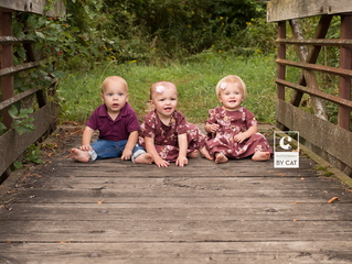 East Lansing, Michigan Photographer // [H] Triplets One Year