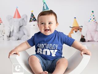 [J] first birthday milestone