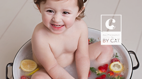 Lansing, MI Newborn Photographer // [W] Fruit Bath