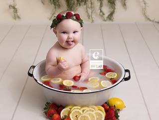Newborn Photographer in Okemos, MI // [V] Fruit Bath