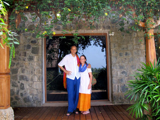 Peter and Chrissy in Kovalam Beach, Kerala