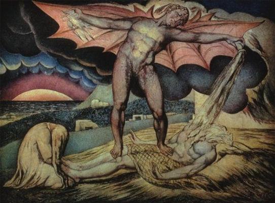 William Blake Satan Smiting Job With Sor