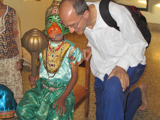 With Hanuman before the play