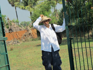 At the front gate of our first Cow Farm