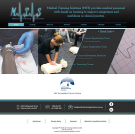 Medical Training Solutions Website