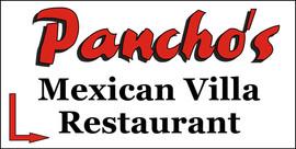 Panchos Mexican Villa Sign