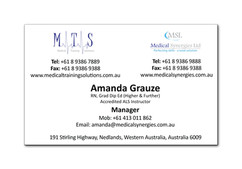 Medical Training Solutions Business Card