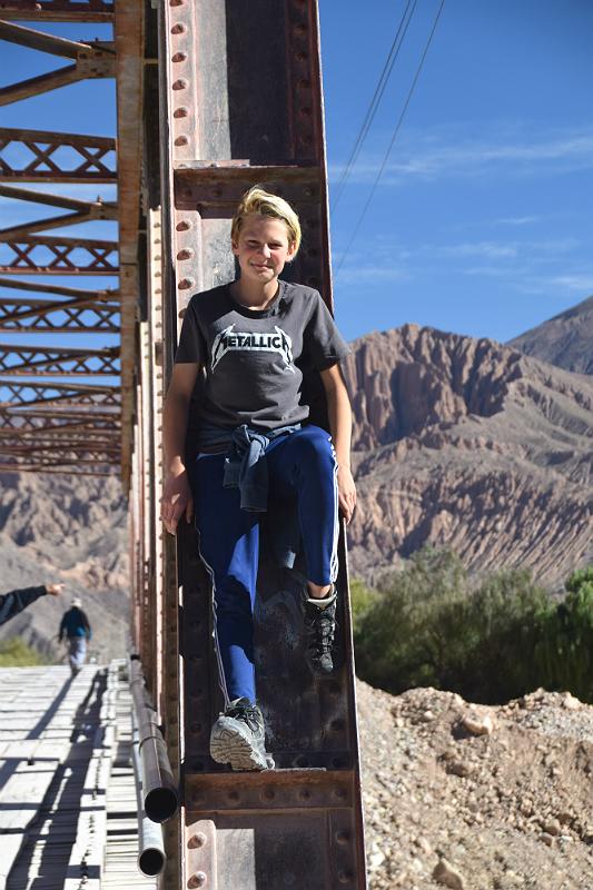 Tilcara: Hjalte på el puente