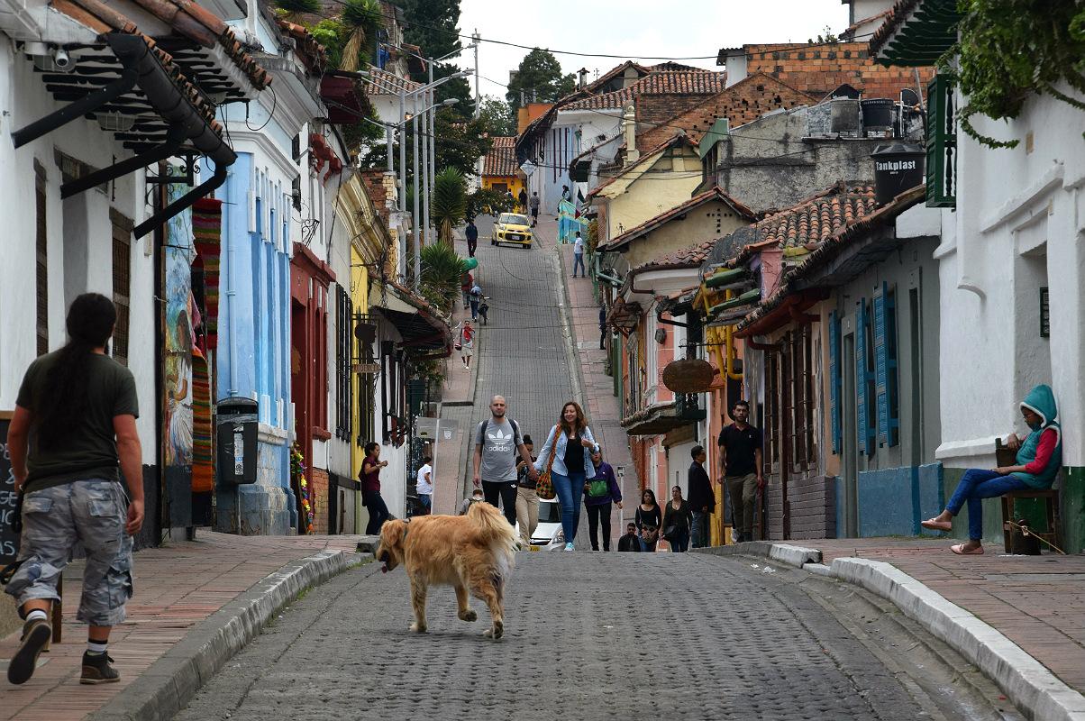 Gadebillede fra Bogotá