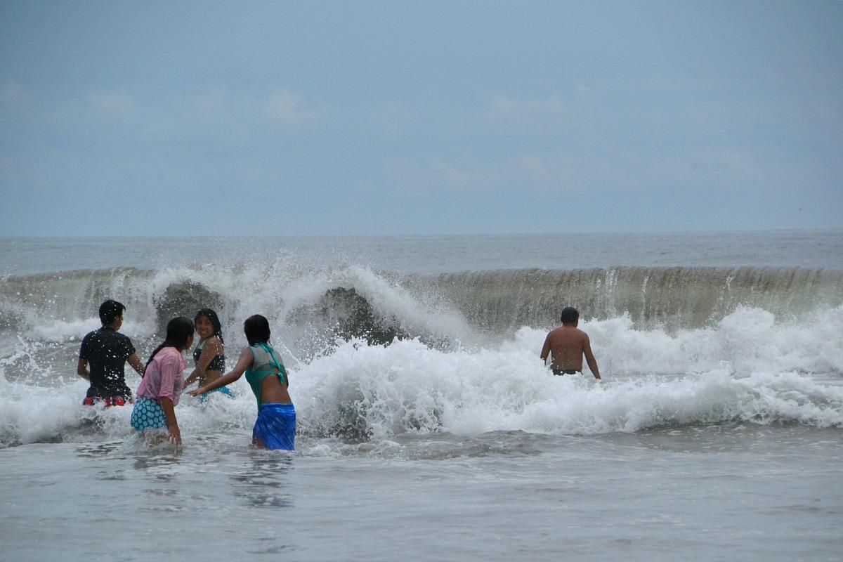Badning i Stillehavet