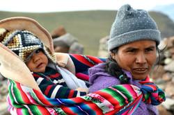 Mor med barn Lagunillas