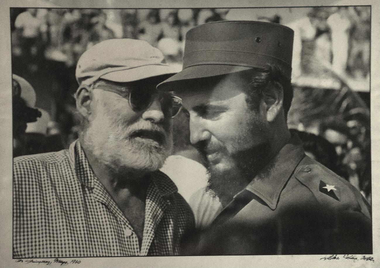Foto af Hemmingway og Fidel Castro