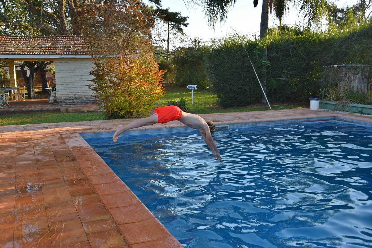 San Ignacio: Meget kold pool!
