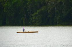 Sejlende på Río Chargres