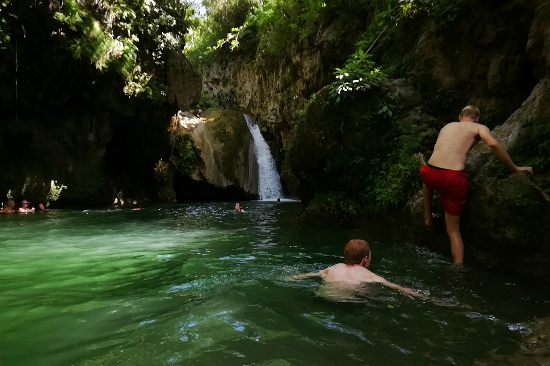 Badning i Parque el Cubano
