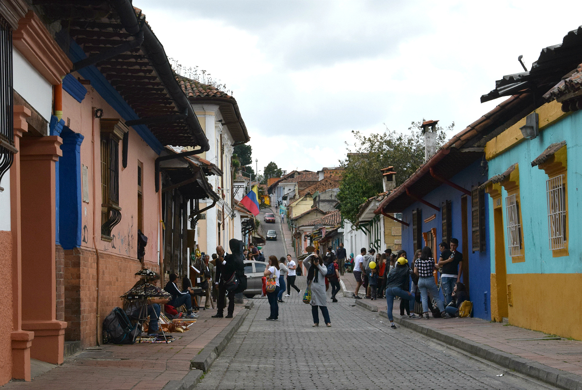 Gade i Bogotá centrum