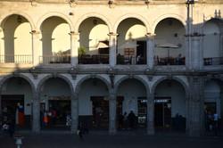 Buegange på Plaza de Armas
