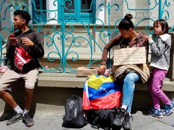 Nærbillede af venezuelanske flygtninge i Peru