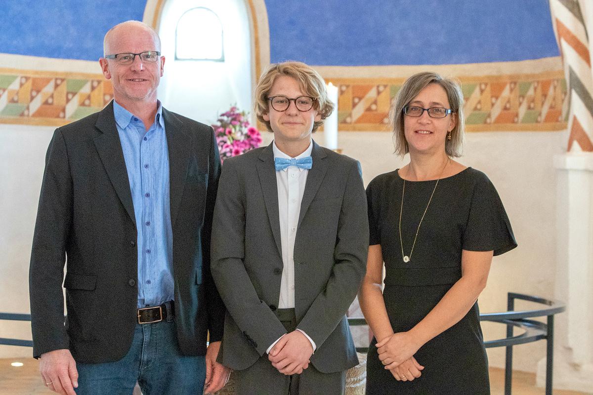 Med fadderne, Søren og Majbritt