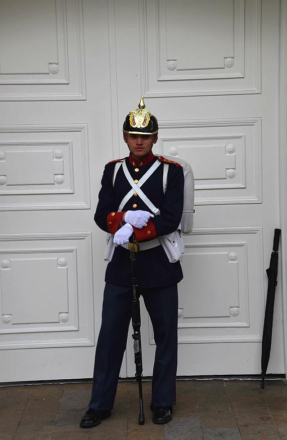 Soldat ved præsidentpaladset