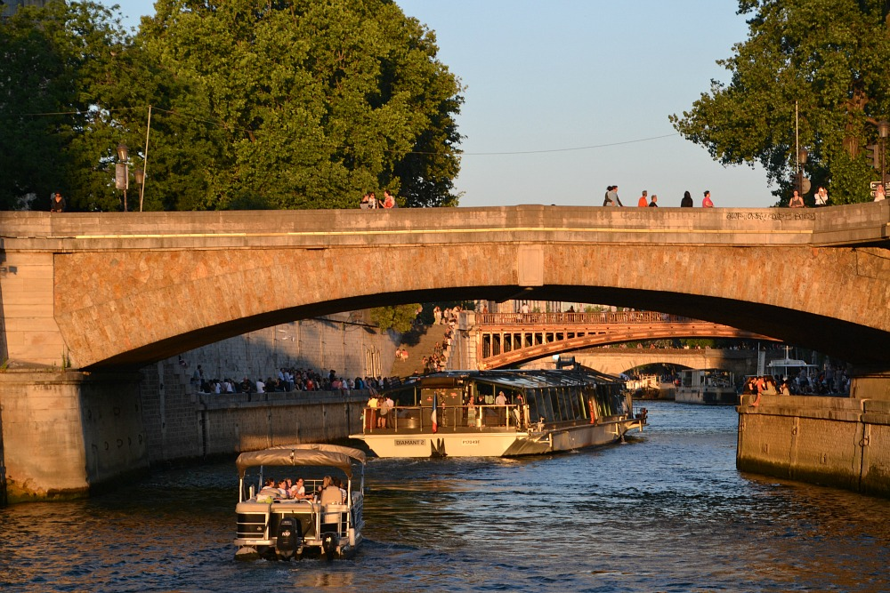 Seinen i solnedgang
